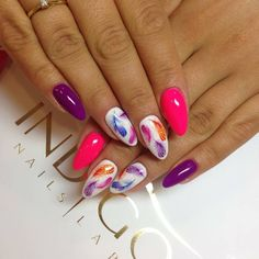 Here you can see some interesting colorful nail designs, you can try ❤ That is why we have gathered these multi colored nails ideas ❤ See more at LadyLife ❤ Nail Polish Designs, Nail Art Designs, Gel Nail Art, Acrylic Nails, Spring Nails, Summer Nails, Indigo Nails, Pretty Nail Designs, Hot Nails