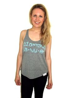 getbusy - Diamond Supply Womens 'Diamond Cities' Tank - http://www.getbusystore.com/collections/diamond/products/diamond-supply-co-womens-diamond-cities-heather-grey