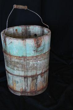 Antique Wooden Bucke