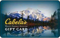 Cabelas Gift Card  Order at http://www.amazon.com/Cabelas-Gift-Card/dp/B0089N3FLG/ref=zg_bs_2973098011_95?tag=bestmacros-20