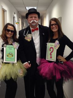 Monopoly halloween costumes! Uncle Pennybags, luxury tax, and chance! #halloween #costume #monopoly #tutus