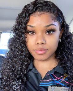 curly hair after wet is so pretty. do you agree? curly hair after wet is so pretty. do you agree? It is 3 bundles of deep wave hair with frontal sew in. Curly Hair Sew In, Wet And Wavy Hair, Curly Hair Styles, Black Curly Hair, Curly Wigs, Natural Hair Styles, Wavy Weave Hairstyles, Sew In Hairstyles, Baddie Hairstyles