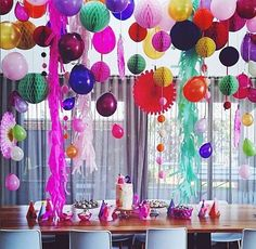 Party decorations. Color