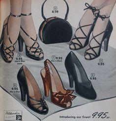 1950s fancy sandal heels More