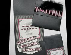 Old Hollywood Invitation with feather