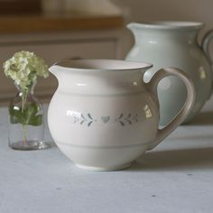 Our handmade Jugs are perfect for a table centre piece, look wonderful displaying flowers or are an ideal size to use as a water jug. Dream Home Design, House Design, Susie Watson, Centre Pieces, Table Centerpieces, A Table, Porcelain, Design Inspiration, Pottery