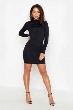 Womens Ribbed High Neck Bodycon Dress - black - 4 Source by Dresses Black Bodycon Dress, Dress Black, Bodycon Fashion, Poses, Fashion Outfits, Womens Fashion, Sexy Legs, Sexy Dresses, Skater Dresses
