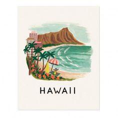 Poster Rifle Paper Hawaii-28x35 Cm  Rifle Paper Co - Kinderzimmer-Dekoration