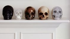 Stylish skulls. Features our Metallic Skull on the far right. Follow us on Tumblr for more inspiration! via surfandsmilebig