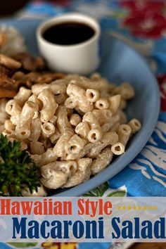 Hawaiian Style Macaroni Salad | heatherlikesfood.com  *add carrot and celery -diced    only use duke's or helm. mayo.