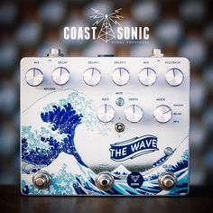 Foxpedal Wave Dual Delay/Reverb from Coast Sonic