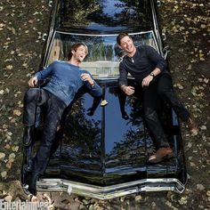 Nueva foto detrás del photo shoot para @EW @jarpad @JensenAckles #SPNFamily #Supernatural