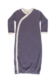 Newborn Organic Kimono Gown: Dark Plum #organicbabyclothes Organic baby clothes
