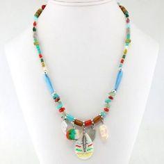 Collier 2 en 1 à perles multicolores #parissima