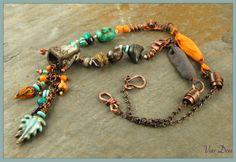 Bird Forest Necklace - 8th Bead Soup Blog Party - Keren Panthaki.