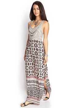 Tribal Print Maxi Dress | FOREVER21 #F21Contemporary