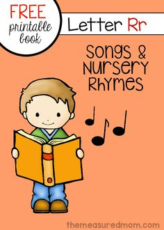 Get a printable letter book of nursery rhymes and songs for letter R. Free!