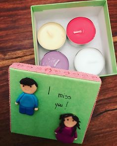 Is this cute? #love #handmade #agapeartbya #fimo #candles #cuples #present #gift ###