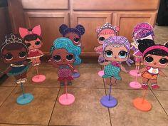 LOL Surprise Dolls Table Centerpieces Elsa Birthday Party, 7th Birthday Party Ideas, Birthday Party Decorations, 4th Birthday, Surprise Birthday, Doll Party, Lol Dolls, Slumber Parties, Girly