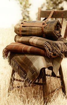 Rustic Pendleton Plaids- What Central Oregon home is complete without at least one Pendleton blanket????