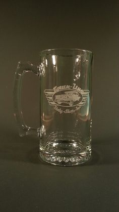 Customer logo engraved on a beer mug, hand engraved one at a time in the USA, just shows some of the fine details we can provide Engraved Beer Mugs, Hand Engraving, Canning, Logo, Usa, Glasses, Tableware, Eyewear, Logos