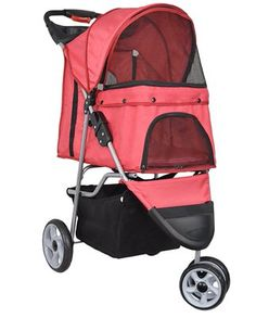 VIVO Three Wheel Pet Stroller for Cat Dog and More Foldable Carrier Strolling Cart Multiple Colors Red * See this great product. Indoor Dog Gates, Cat Stroller, Electric Dog Collar, Plastic Dog Crates, Cat Nutrition, Cat Cages, Pet Supplements, Cat Enclosure, Cat Carrier