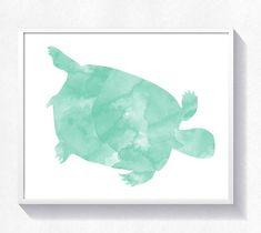 80%OFF Turtle print turtle wall art turtle watercolor