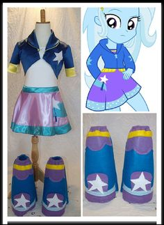Trixie Costume   https://www.etsy.com/listing/235440654/trixie-my-little-pony-top-skirt-boots
