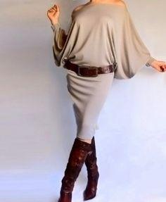 Wide Neckline Dress/Tunic
