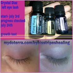 DoTERRA eyelash growth! All I did was make a roller bottle with equal parts of the 3 EO's and applied 2xs a day. I even forget some days!