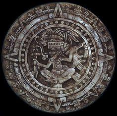 Mayan+Calender+plaque+sculpture+in+antique+stone