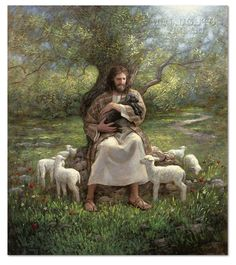 Jesus the Good Shepherd ~ Ye are not Forgotten by Jon McNaughton Pictures Of Jesus Christ, Bible Pictures, Jesus Pics, Lord Is My Shepherd, The Good Shepherd, Lds Art, Bible Art, Jon Mcnaughton, Christian Artwork