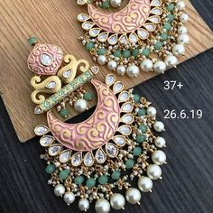 To Order Please Message or WhatsApp at Indian Jewelry Earrings, Indian Jewelry Sets, Jewelry Design Earrings, Gold Earrings Designs, Jewelery, Designer Earrings, Tikka Jewelry, Indian Accessories, India Jewelry