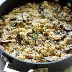 Farofa de Quinoa com Cogumelo