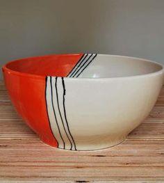 Orange House Medium Stoneware Serving Bowl