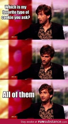 David Tennant...this is why he's so fabulous X)
