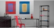 Abstraction rouge 2001, 80 cm x 100 cm, édition limitée de Richard Caldicott