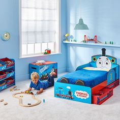 Thomas The Tank Engine Toddler Bed With Storage Plus Foam Mattress