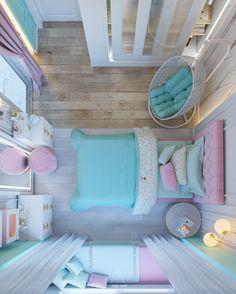 Maggi Samir on Behance Small Room Design Bedroom, Cute Bedroom Decor, Bedroom Decor For Teen Girls, Cute Bedroom Ideas, Bedroom Furniture Design, Girl Bedroom Designs, Room Ideas Bedroom, Home Room Design, Luxury Kids Bedroom