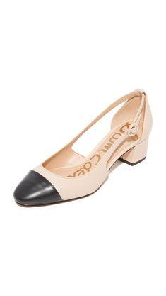 5a77a2d3e590 cap toe block heel shoes - so ladylike