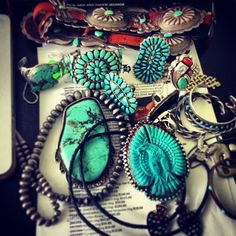 Vintage Turquoise Navajo Jewelry - I find lots on EBAY for very afforable prices
