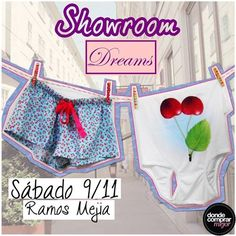 ¡Mañana showroom de Dreams by Veneno! ¡No te pierdas todas las prendas divinas que tiene para vos! Consultá la dirección exacta en la Fan Page de Dreams by Veneno.