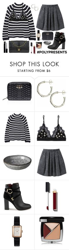 """#PolyPresents: Wish List"" by dantevandenabeele ❤ liked on Polyvore featuring Zadig & Voltaire, Dinny Hall, MANGO, LoveStories, Broste Copenhagen, Wood Wood, Chanel, Miss Selfridge, contestentry and polyPresents"