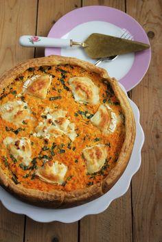 Karotten-Bärlauch-Quiche mit Ziegenkäse