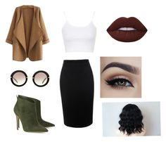 """""""Untitled #7"""" by nobiebey on Polyvore featuring WithChic, Lime Crime, Miu Miu, Gianvito Rossi, Alexander McQueen and Topshop"""