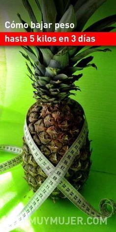 Cómo bajar peso hasta 5 kilos en 3 días. ¡Sin efecto rebote! #bajardepeso #perderpeso #adelgazar #adelgazarrápido #dietas #piña