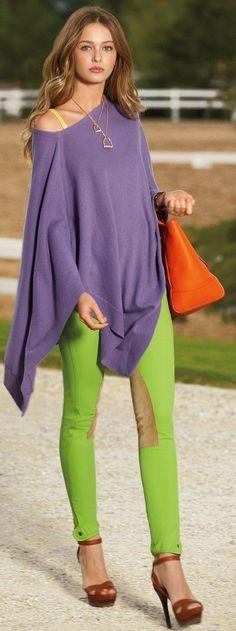 verde lima lila y naranja zapatos marrones