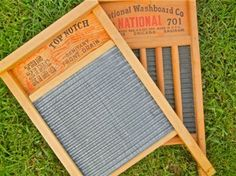 "Zinc King Top Notch #701 Washboard Large family-size washboard features zinc herringbone ""corn row"" rubbing surface. I constantly scour the planet for these ..."