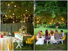 Backyard Graduation Party Ideas graduation and ocean graduationend of school party ideas photo 1 of 14 catch my party Lights In Trees Bushes Or Wherever For Outdoor Parties Grad Party Idea