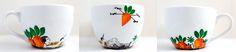 Carrot series; hand-painted mug; 500ml / Kristi Palm Art